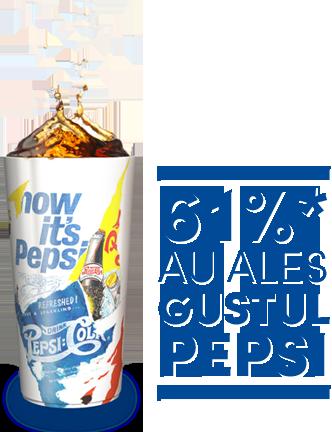 61% au ales gustul PEPSI